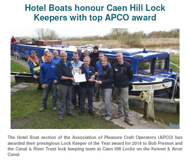 Lock Keeper of the Year Award Presentation