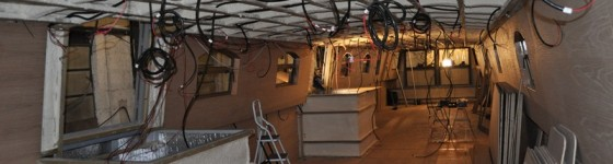 Wessex Rose Hotel Boat - Interior before walls and partitions